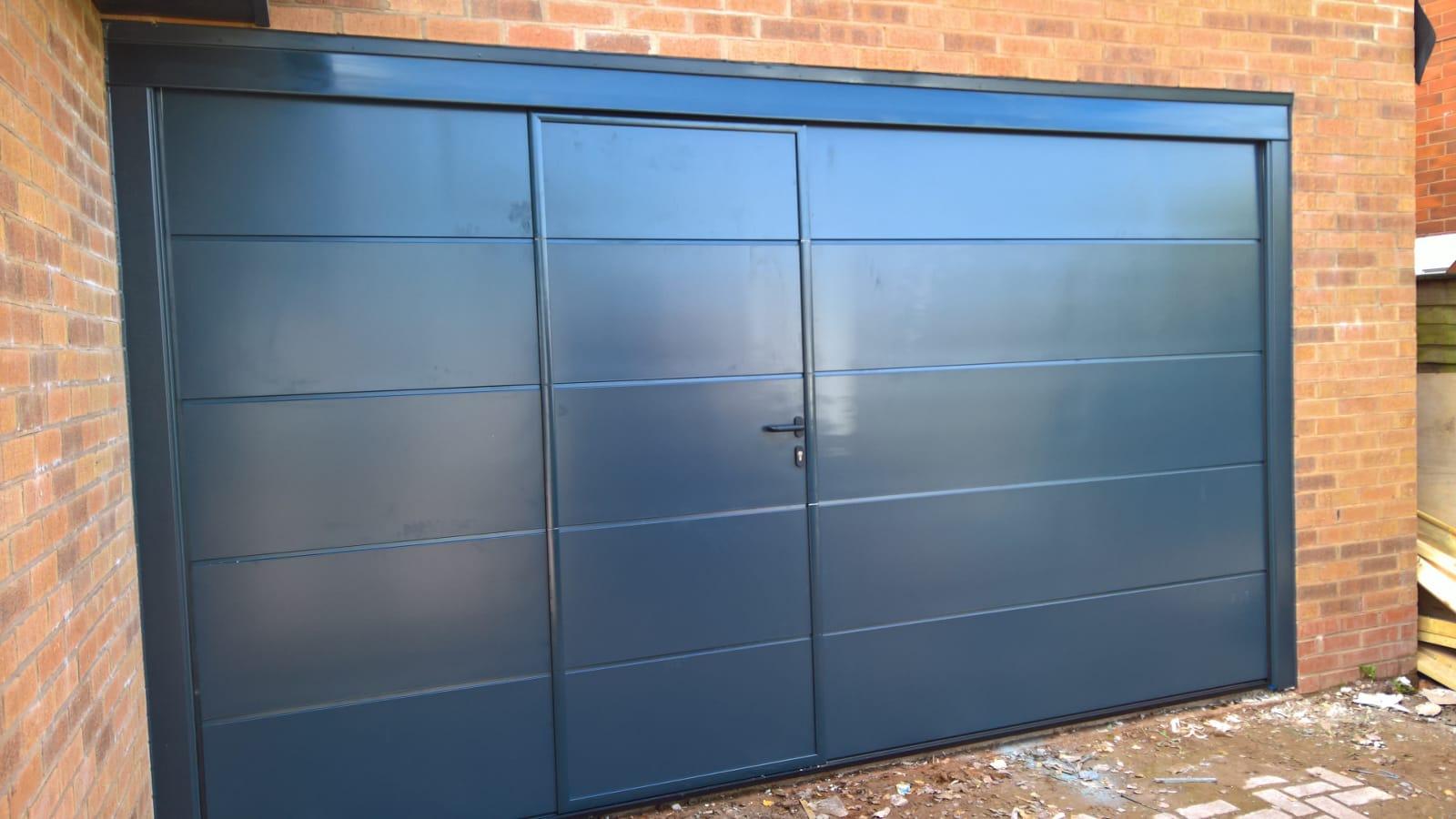 grey sectional garage door