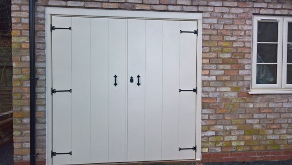 white select side hinged garage door