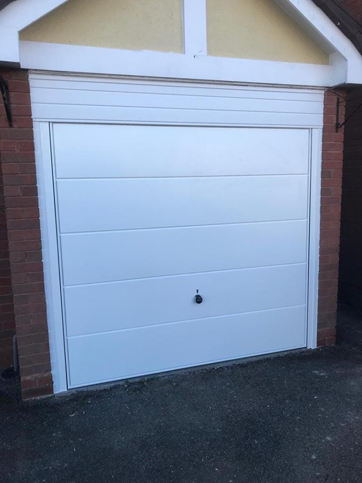 White Hormann Canopy Garage Door Oct 18