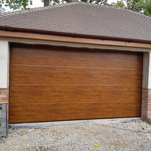 hormann wooden sectional garage door