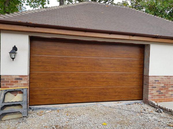 hormann wooden sectional garage door