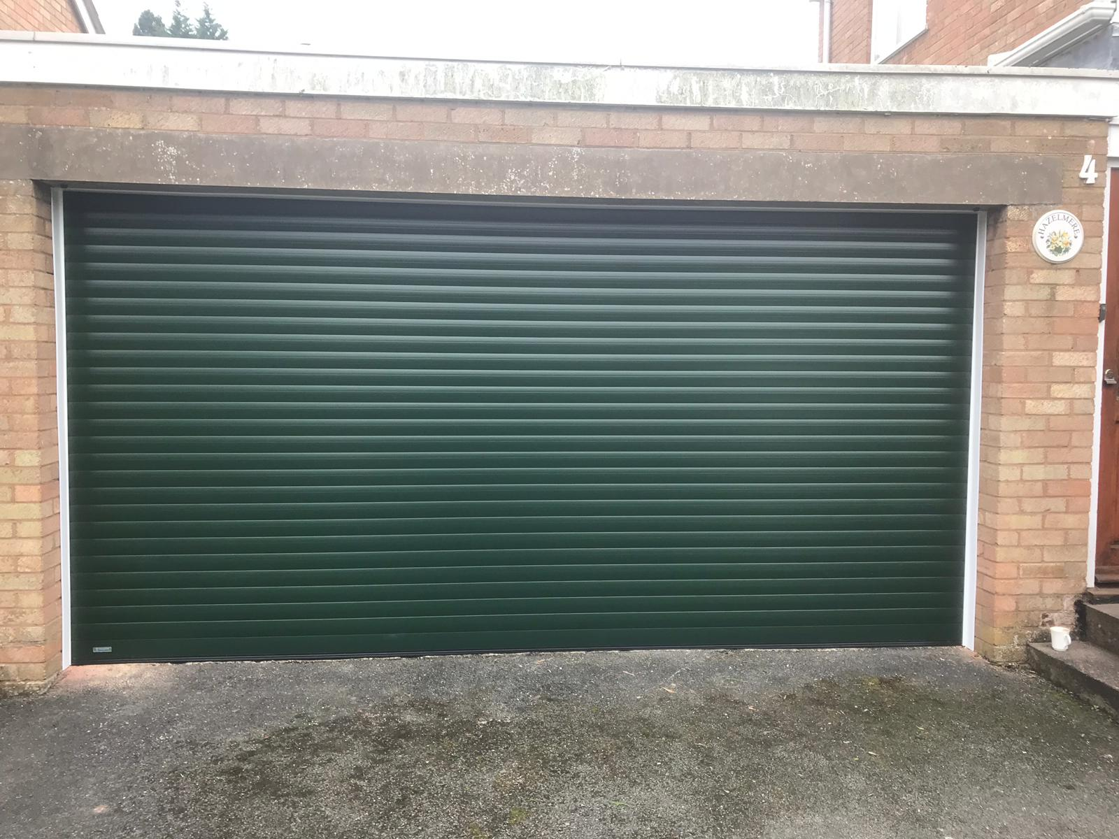 Green Secure by Design SWS Rolller Garage Door Jan 19