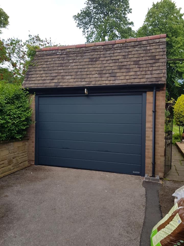 Hormann garage door in black